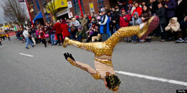 [UNVERIFIED CONTENT] Performers performs during the Chinese New Year Parade at Chinatown in