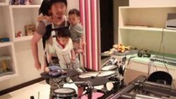 WATCH: Diaper Duty Dad Rocks Out With 3