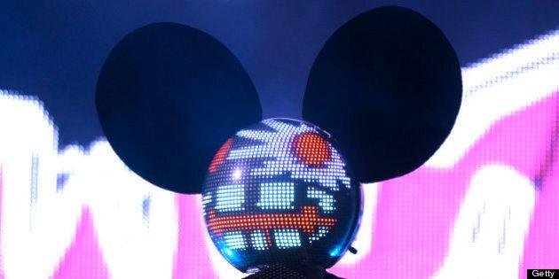 MIAMI, FL - MARCH 23: Deadmau5 performs at the Ultra Music Festival on March 23, 2013 in Miami, Florida....