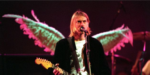 Kurt Cobain of Nirvana (Photo by Jeff
