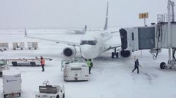 Halifax Storm Blows Plane Off Its