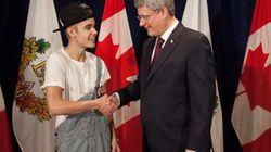 Harper Gives Bieber Diamond Jubilee