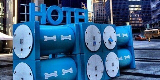 Pop-Up Tube Hotel Raises Notion Of