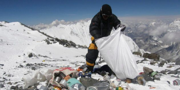 Climbing Mount Everest? You'll Have To Climb Back Down With Garbage: