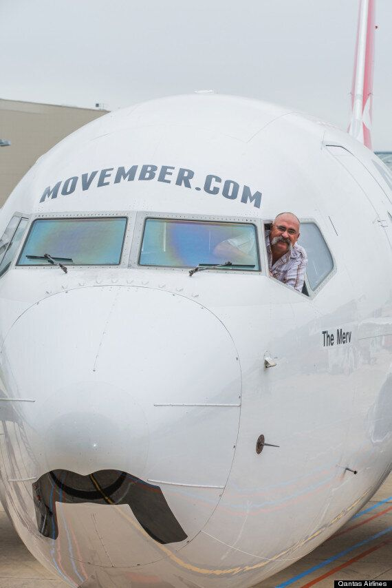 Movember Plane Is Qantas' Pitch To The Moustache Movement For Men's