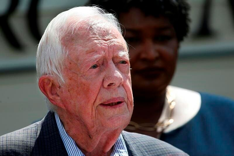 "ATLANTA — Former U.S. President Jimmy Carter broke his hip Monday at his Georgia home, underwent successful surgery and was recovering comfortably, a spokeswoman for the Carter Center said.Carter was on his way to go turkey hunting, the spokeswoman, Deanna Congileo, said in a statement. She said that he was treated in Americus, Georgia, near his home in Plains, and that his wife, Rosalynn, was with him.In the statement, Congileo said: ""President Carter said his main concern is that turkey season ends this week, and he has not reached his limit. He hopes the State of Georgia will allow him to rollover the unused limit to next year.""Carter, 94, disclosed in 2015 that cancer that had been discovered on his liver and had also been found on his brain. He received treatment for seven months until scans showed no sign of the disease.At the time he revealed the cancer, he said he felt ""perfectly at ease with whatever comes.""""I've had a wonderful life,"" he said. ""I've had thousands of friends, I've had an exciting, adventurous and gratifying existence.""The Associated Press"