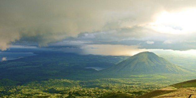 Volcano in Nicaragua view in the late afternoon