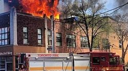 Toronto Musician's Apartment Blaze, Firefighters Save Valuable