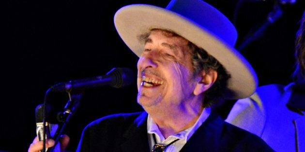 U.S. musician Bob Dylan performs during on day 2 of The Hop Festival in Paddock Wood, Kent on June 30th...