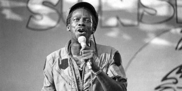 Leroy Sibbles performing at Reggae Sunsplash at Crystal Palace, London on 1 July 1984. (Photo by David