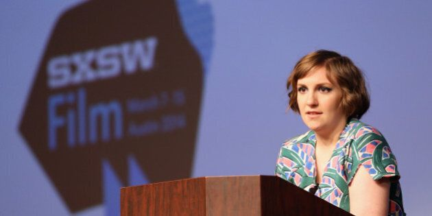 AUSTIN, TX - MARCH 10: Filmmaker/actress Lena Dunham speaks onstage at the Lena Dunham Keynote during...
