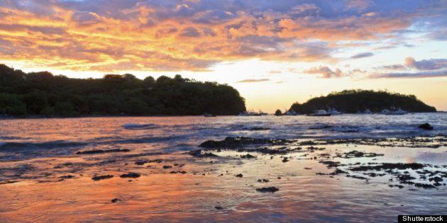 sunset behind punta gorda on...