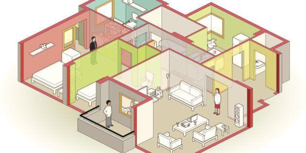 cutaway apartment -