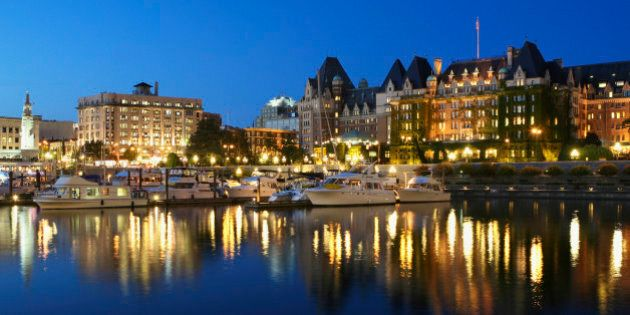 Canada, British Columbia, Victoria, waterfront on Inner Harbour,