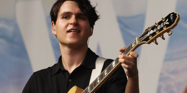 SYDNEY, AUSTRALIA - JANUARY 18: Ezra Koenig of Vampire Weekend performs live on stage at Big Day Out...