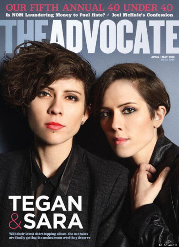 Tegan And Sara, The Advocate: Canadian Duo Make Cover Of Gay Mag's '40 Under 40' Issue