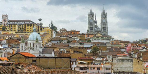 Basilica of the National Vow, Quito, Pichincha Province, Ecuador, Unesco World Heritage Site.