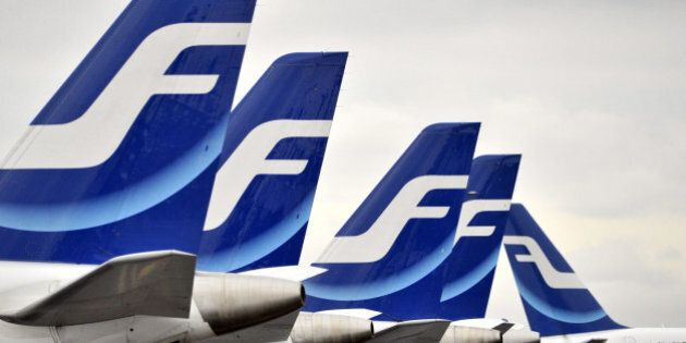 Finnair planes are grounded at Helsinki airport on November 16, 2009 due to a Finnair pilots' strike, which started after wage negotiations at the weekend broke down.           AFP PHOTO / MARKKU ULANDER              - FINLAND OUT - (Photo credit should read MARKKU ULANDER/AFP/Getty Images)