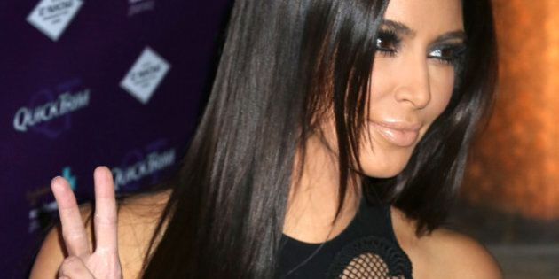 LONDON, ENGLAND - MAY 18: Kim Kardashian launches the US weight management product QuickTrim to the UK...