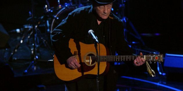 TORONTO, ON - JUNE 12: Stompin Tom Connors performs on stage during the 2008 NHL Awards at the at the...