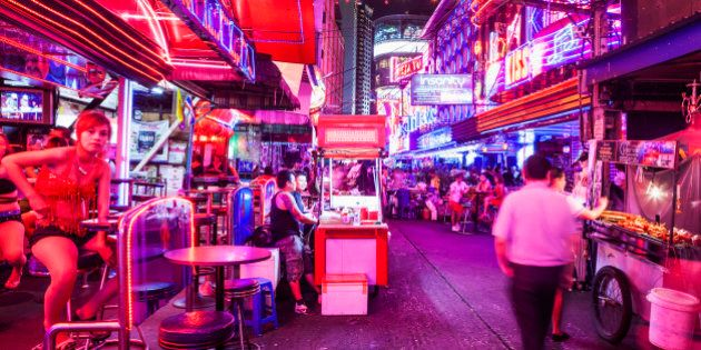 Red Light District of Soi Cowboy, one of the main place for prostitution.