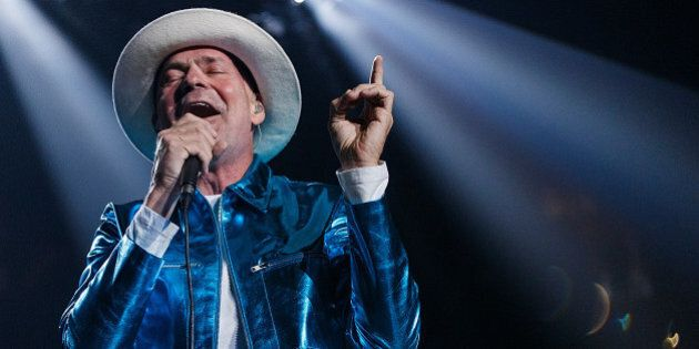 VANCOUVER, BC - JULY 24: Gord Downie of The Tragically Hip performs onstage during their 'Man Machine...