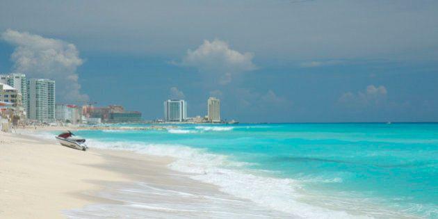 Beach scenic in Cancun,