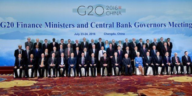 CHENGDU, CHINA - JULY 24: Finance ministers and central bank governors from the Group of 20 major economies...