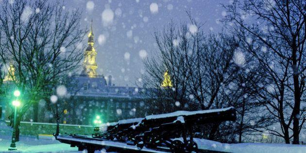 City of Quebec in winter. Quebec.