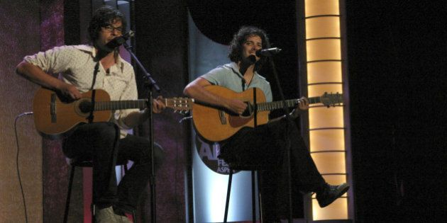 Bass Ale award recipients for Best Alternative performance, 'Flight of the Concords':  Bret McKenzie and Jemaine Clement at the Wheeler Opera House in Aspen, Colorado (Photo by Amy Tierney/WireImage)