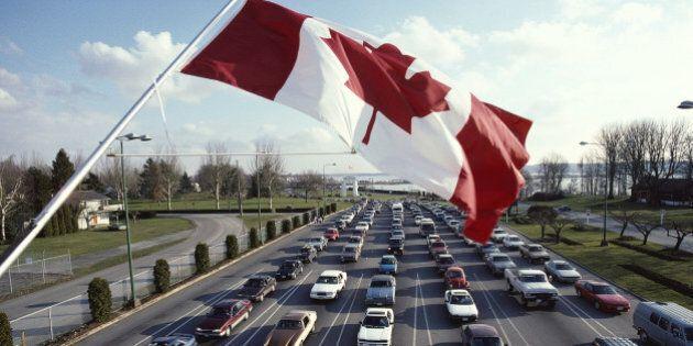 Car Lineup at Canadian