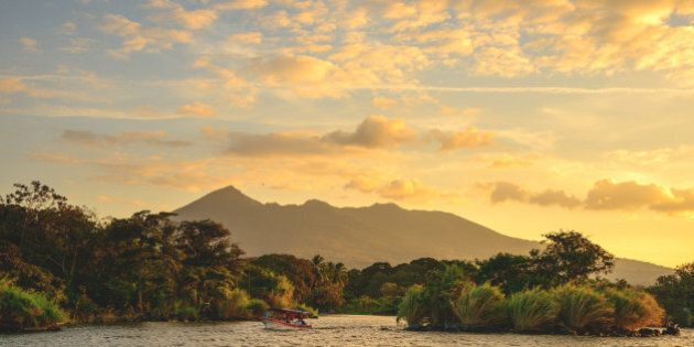 Sunset on Lake Ometepe in