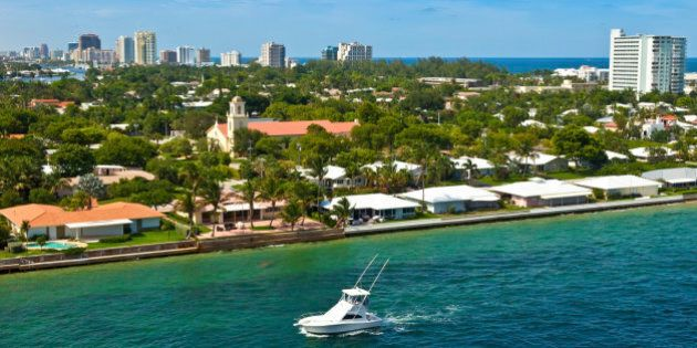 City and coastline of the city of Fort Lauderdale, Florida