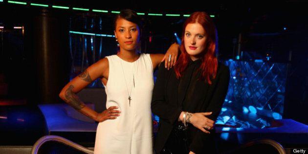 MIAMI BEACH, FL - JUNE 29: Aino Jawo and Caroline Hjelt of Icona Pop pose in the Wonderwall Portrait...