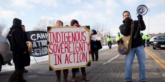 Idle No More Protest Closes Cornwall Bridge To