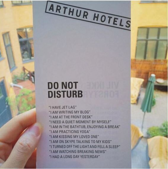 What Your Hotel 'Do Not Disturb' Sign Says About