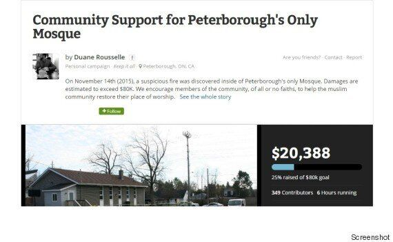 Peterborough Mosque Fire Fundraiser Receives Thousands Of Dollars In Donations Within