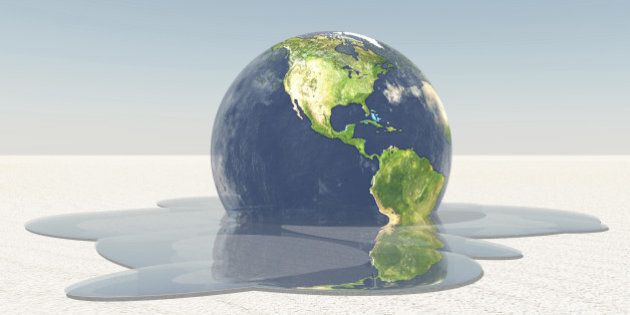 Earth melting into water Image credit