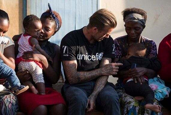 David Beckham Meets Children In Swaziland Affected By HIV And