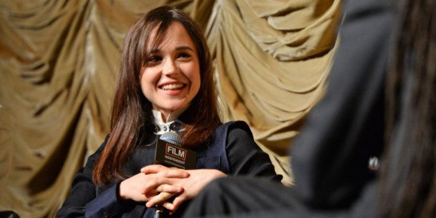 LOS ANGELES, CA - MAY 30: Actress Ellen Page attends a Film Independent At LACMA special screening of...