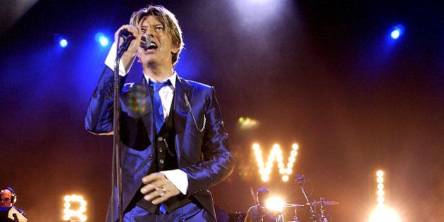 UNITED KINGDOM - OCTOBER 03: Pop Legend David Bowie In Concert, At The Hammersmith Appollo, In London,...