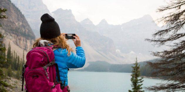 Adventure around Moraine Lake in Alberta,