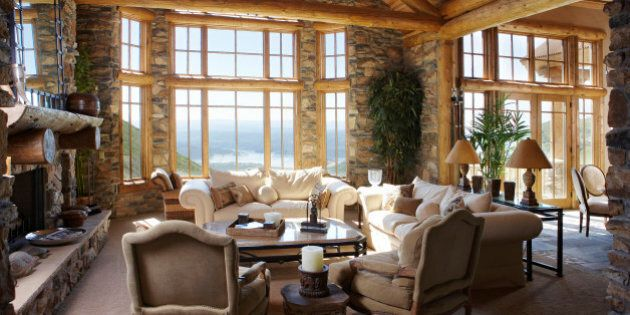 Living Room with Lake