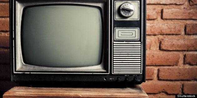 retro tv turned of