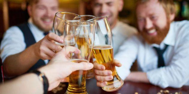 Men like to drink beer