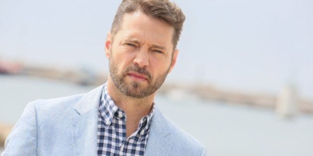 CANNES, FRANCE - APRIL 04:  Jason Priestley attends 'Private Eyes' Photocall on April 4, 2016 in Cannes, France.  (Photo by Tony Barson/FilmMagic)
