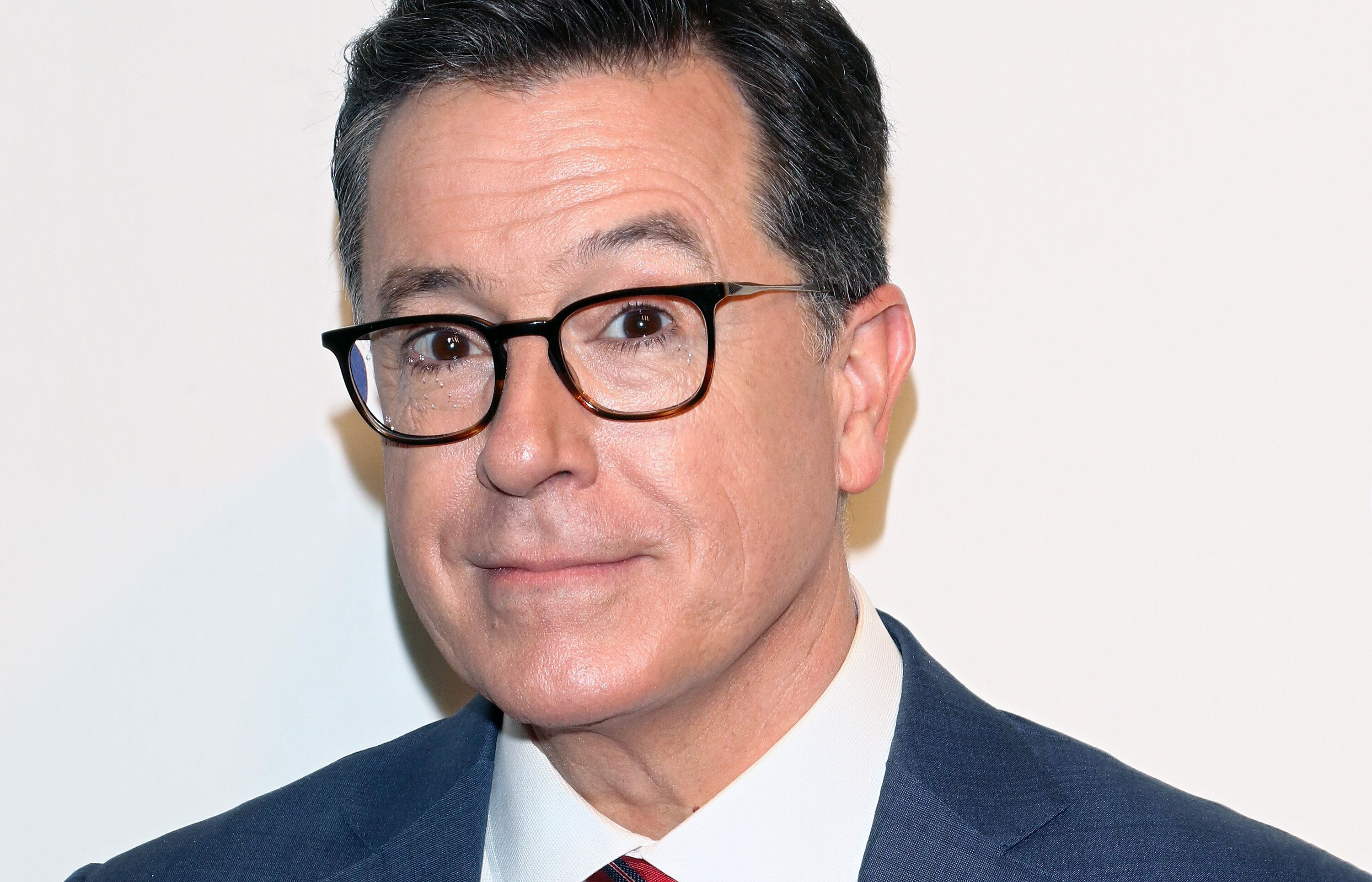 NEW YORK, NY - MAY 16:  TV host Stephen Colbert attend the 2018 CBS Upfront at The Plaza Hotel on May 16, 2018 in New York City.  (Photo by Jim Spellman/WireImage)