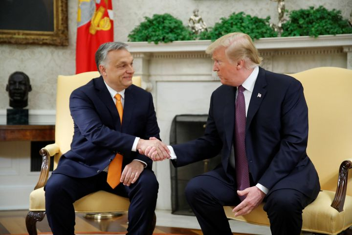 """""""I know he's a tough man, but he's a respected man,"""" President Donald Trump said of Hungarian Prime Minister Viktor Orbán."""
