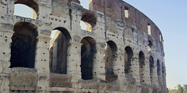 Photo shows remaining parts of the Rome empire