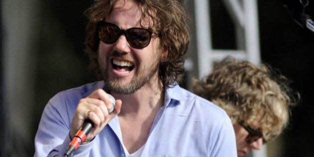 SAN FRANCISCO, CA - OCTOBER 1: Kevin Drew of Broken Social Scene performs as part of the Hardly Strictly...